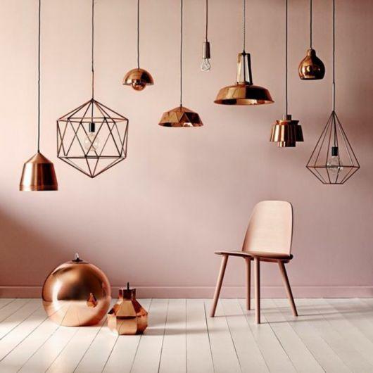 decor rose gold cadeira