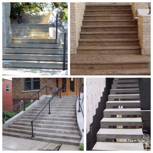 escada de concreto externa