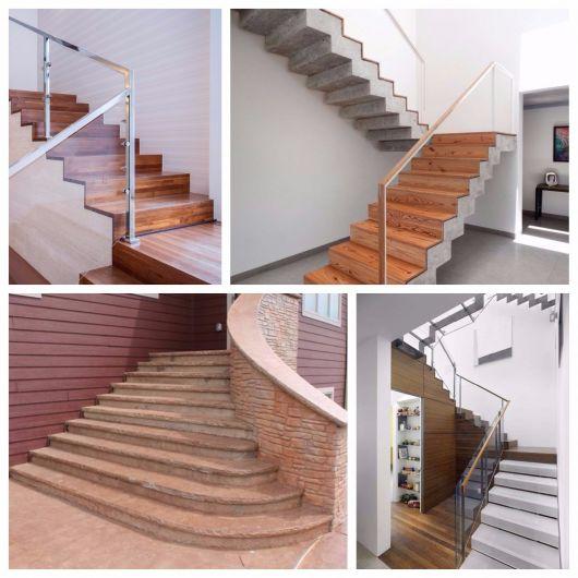 escada de concreto melhores revestimentos