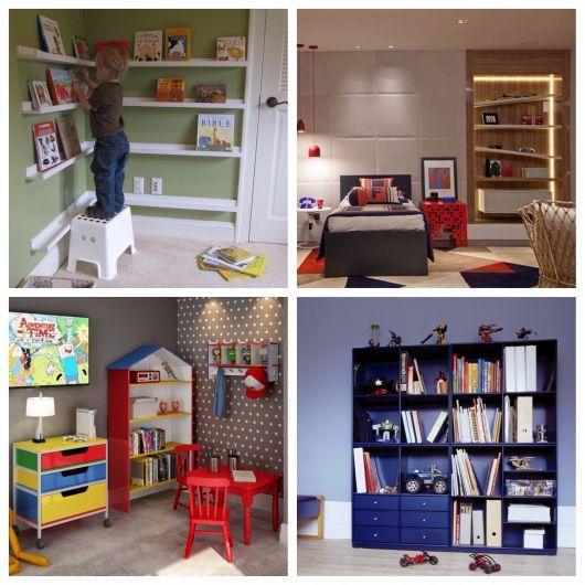 quartos infantis com estantes
