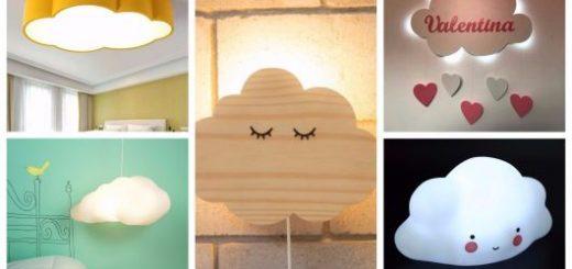 luminarias em formato de nuvem