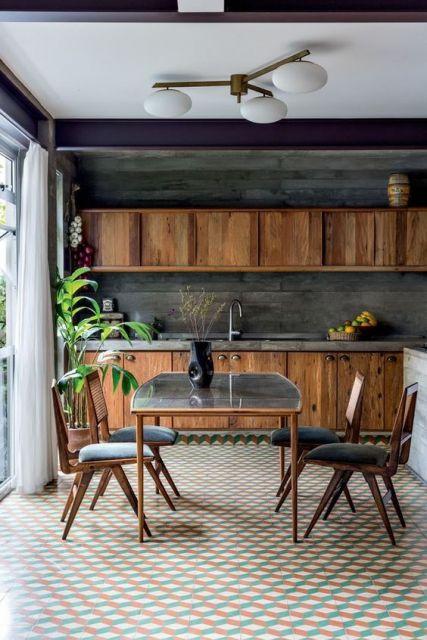 cozinha decoração retrô