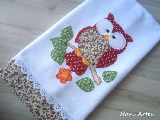 coruja de patchwork