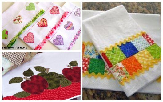 pano de prato com patchwork