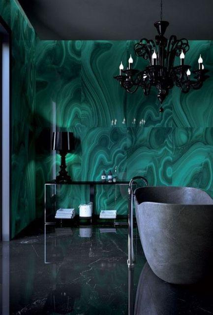 parede verde água banheiro