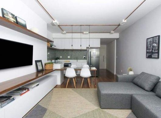sofá cinza decoração