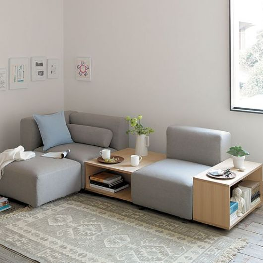sofá de canto moderno