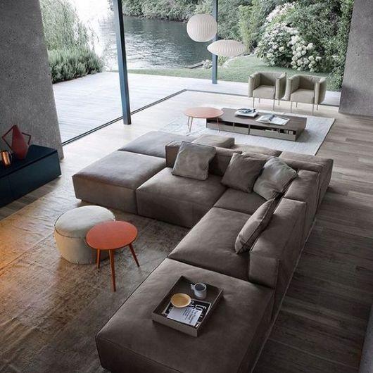 sofá de canto sem braço