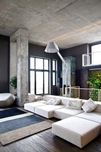 sofá branco moderno