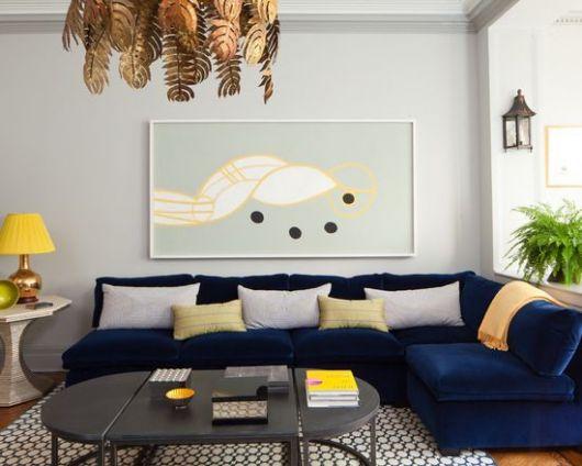 sofá simples decoração