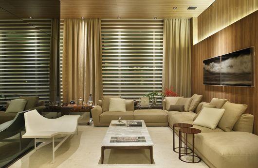 sofá de canto sala de estar
