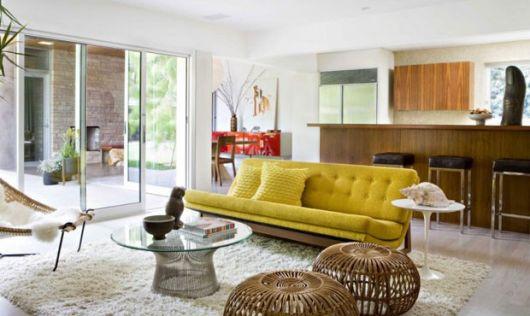 sofá amarelo decoração