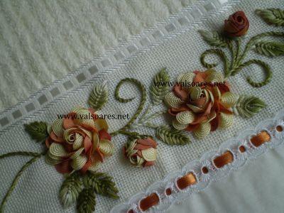 bordado com flores