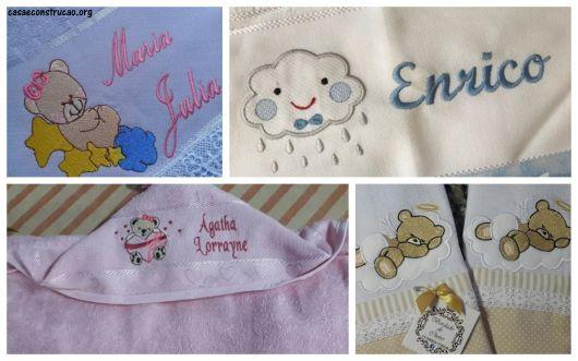 ideias para toalhas de bebê