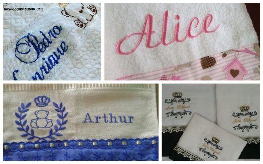 ideias de bordados personalizados