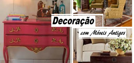 Montagem com fotos de móveis antigos.