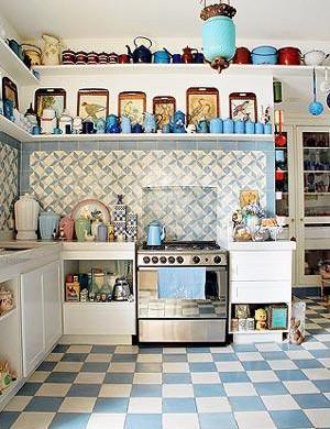 Modelo de cozinha com azulejos
