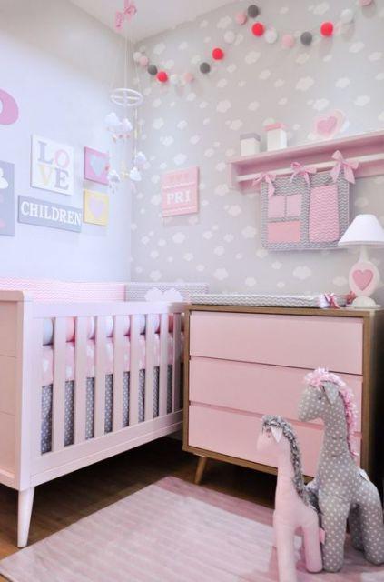 quarto de bebê feminino rosinha