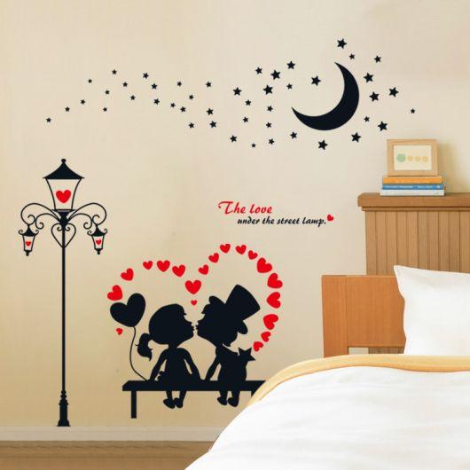 adesivos para quarto de casal românticos