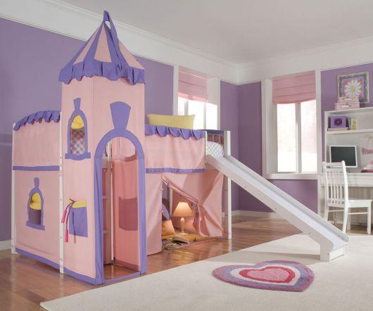 camas com escorregador cabana
