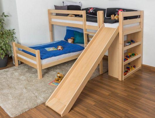 camas com escorregador madeira