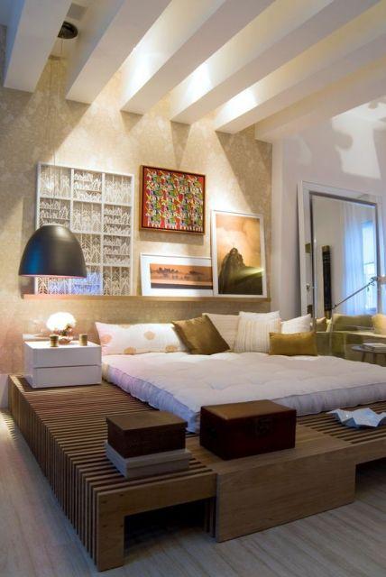 cama de madeira moderna