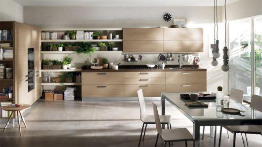 cozinha com decoração contemporânea