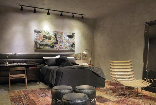 quarto com decoração contemporânea