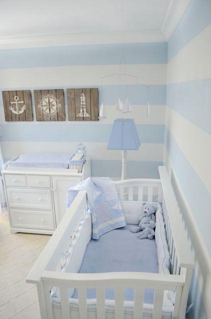 decoração quarto azul