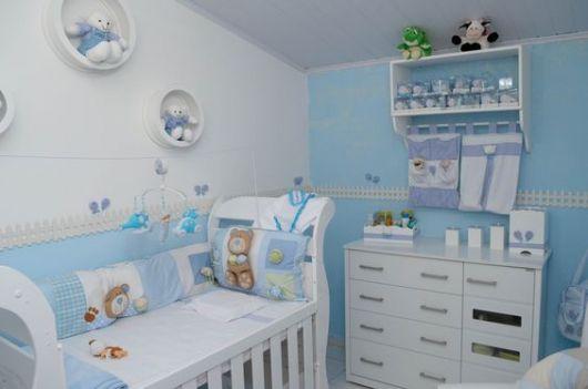 decoração ursos quarto azul