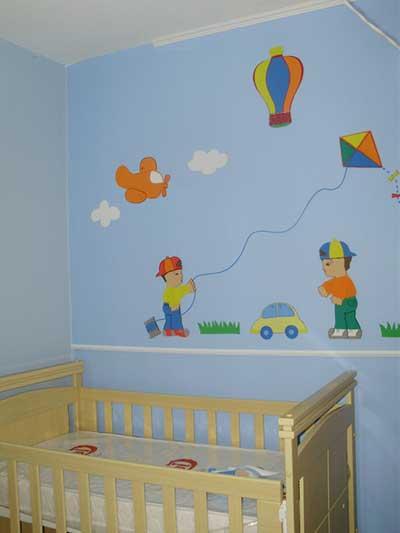 quarto simples decorado EVA
