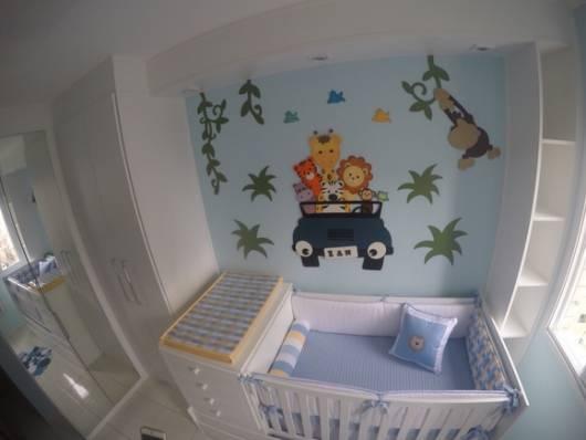 parede decorada quarto menino