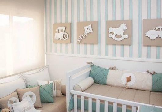 decoração com MDF quarto menino