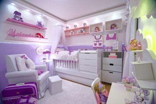 quarto lilás e rosa