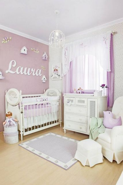 quarto lilás menina