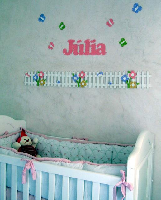 decoração em EVA quarto menina