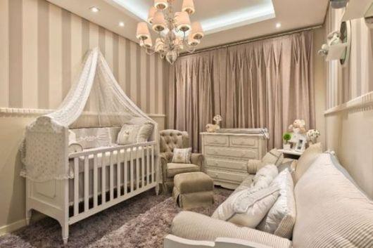 quarto neutro e de luxo