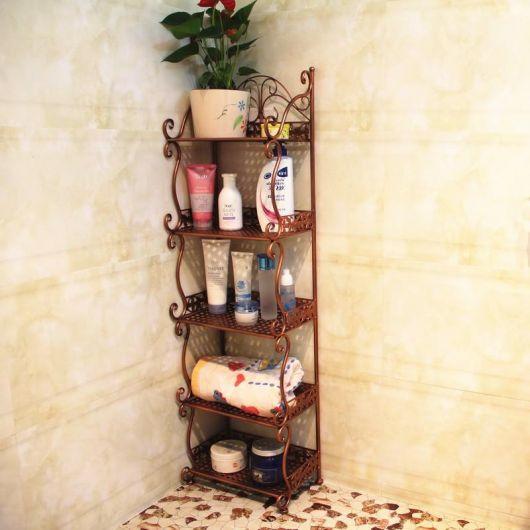 estante de canto para banheiro