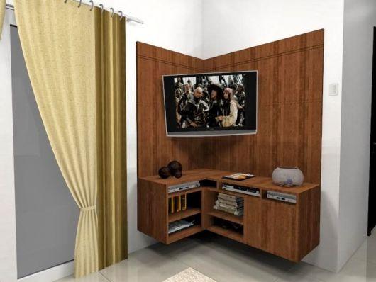 estante de canto para TV