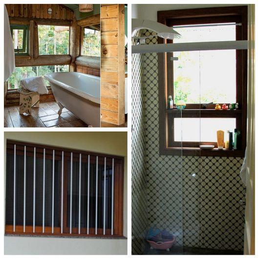 janelas de madeira para banheiro