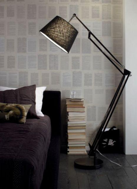 luminária para leitura de chão