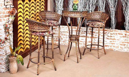 mesa para varanda gourmet de vime