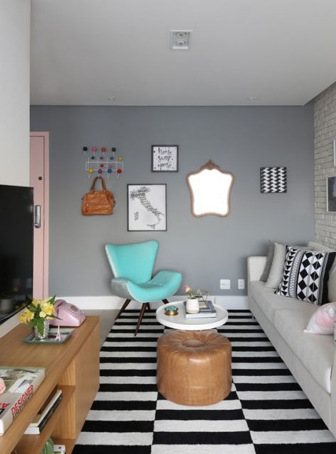 decoração sala de TV