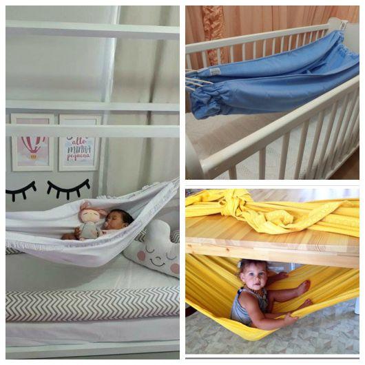 rede para bebê de tecido