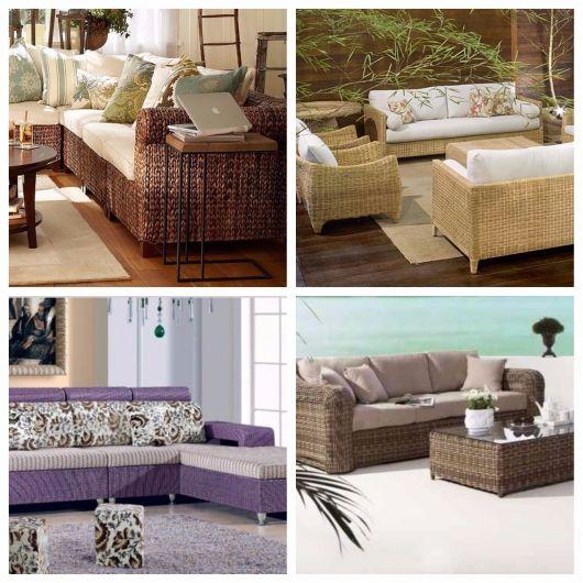 sofá de vime