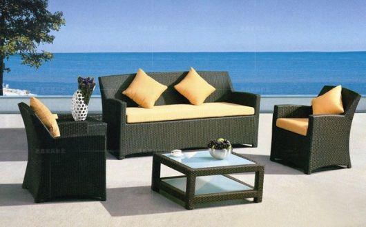 sofá de vime luxo