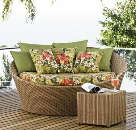 sofá de vime para varanda