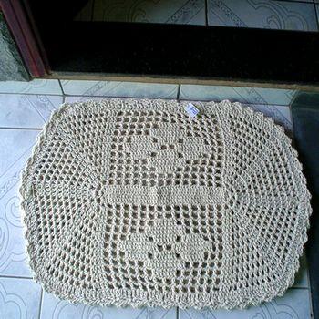 tapetes de entrada com crochê