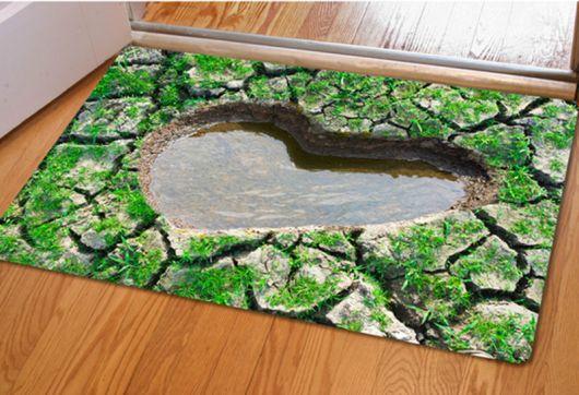 tapetes de entrada com figura 3D
