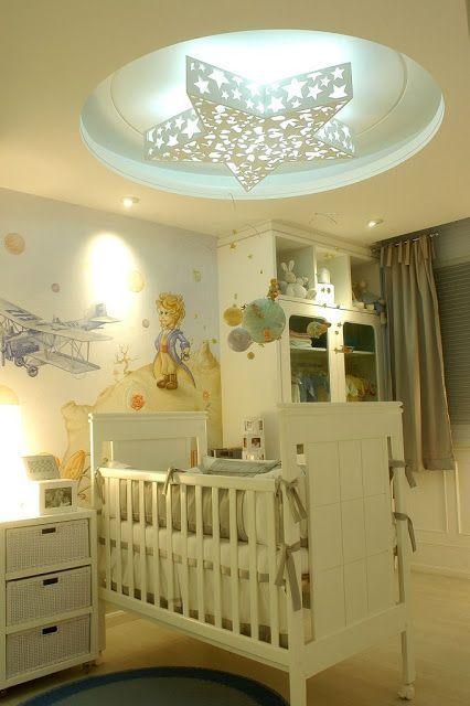 Decoração de Quarto de Bebê masculino do Pequeno Príncipe.
